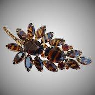 Juliana Tortoise Stone Leaf Brooch Book Piece!