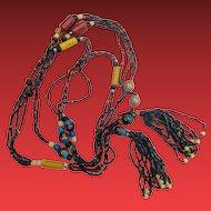 Carnival & Wedding Cake & Uranium Glass Flapper Beads