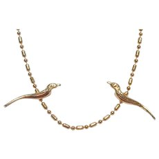 Kenneth Lane Golden Birds Necklace