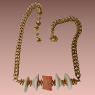 Miriam Haskell Coral & Shells Necklace