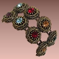 Judy Lee Rhinestone Nest Bracelet