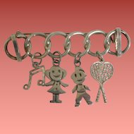Mexican Sterling Charm Brooch