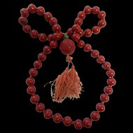 1920's Cinnabar Necklace