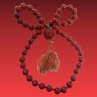 1920's Cinnabar Necklace