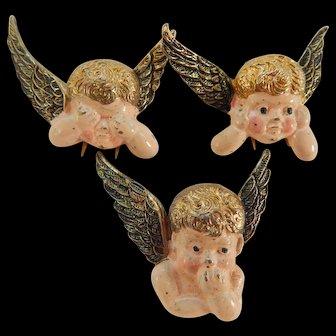 1941 Kay Jewelers Cherub Clip Trio