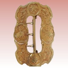 Early Victorian Gold Equestrian Buckle
