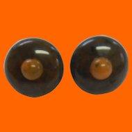 Bakelite Dot Earrings