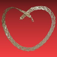 Italian Woven Sterling Silver Collar Chain