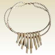 Trifari Ivory Tone Necklace