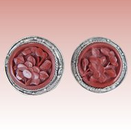 Old Chinese Cinnabar Earrings
