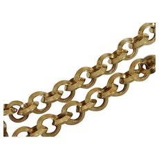 14K Gold Circle Link Bracelet For Charms