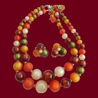Coro Autumn Moonglow Necklace & Earrings