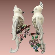 1941 Enameled Coro Bird Duette Clips