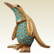 Sphinx Penguin Brooch