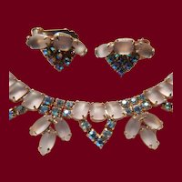 Frosted Pink Rhinestone Demi