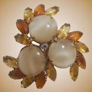 Large and Lovely Cream Brooch