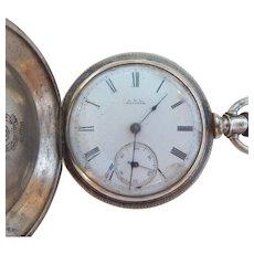 1881 Waltham Coin Silver Pocket Watch