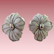 Trifari Enameled Earrings