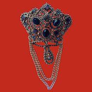 Lisner Crown Brooch