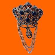 Lisner Crown Brooch