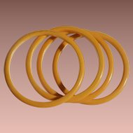4 Butterscotch Bakelite Bangle Spacers