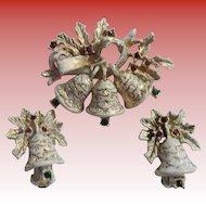 Dodds Christmas Bells Brooch & Earrings