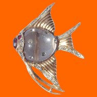 Coro Sterling Angel Fish Jelly Belly Fur Clip