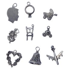 Sterling Silver Wedding Charms Set