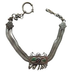 French Victorian Watch Slide Fob Chain