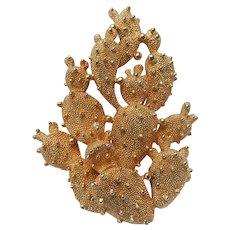Tortolani Cactus Brooch