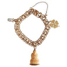 Winard Lucky 12k Gold Filled Charm Bracelet