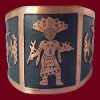 Copper Mayan Cuff Bracelet