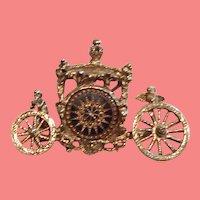 Stunning Dalsheim Cherub Carriage Brooch