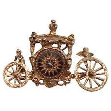 Stunning Dalsheim Cherub Carriage Brooch