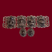 Lg Striped Cab Bracelet & Earrings