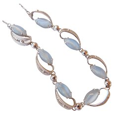 Judy Lee Sterling & Moonstone Necklace