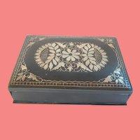 Bronze Box W/ Silver Design