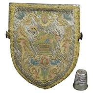 Purse 18th Century Shield Shape Steel Mitre Frame Circa 1720 Georgian SO VERY RARE