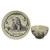 Antique English 18th Century Creamware Toy Tea Bowl And Saucer Circa 1770 Excellent Provenance