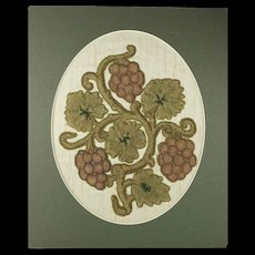 17th Century Raised Stumpwork Needlework Slips Circa 1600s Later Remounted Early Colonial