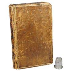 Antique 18th Century Leather Book, 1777 Poetical Works of Samuel Butler, Dog Armorial Bookplate, Irish Interest Robert Watson Wade