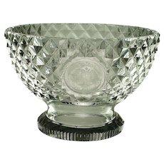 Antique Cut Glass Bowl Compote English Georgian Era Circa 1810