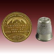 Antique Australian Gilt Bronze Medal E W Cole's Book Arcade Federation Of The World The Eleventh Commandment Circa 1885