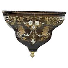 Antique Original French Boulle Inlaid Wall Bracket Circa 1790 Louis XVI