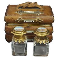 Antique French Grand Tour Souvenir Scent Box, Views of Paris Casket, Perfume 1840