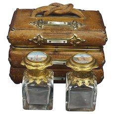 Antique French Grand Tour Souvenir Scent Box, Views of Paris Casket, Perfume 1840