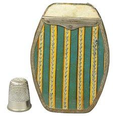 Rare 18th Century Bilston Purse Guinea Wallet Japanned Bright Cut Tin Ware Georgian Circa 1800