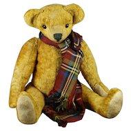 Antique Teddy Bear Hump Back Pronounced Nose Swivel Joints Circa 1910