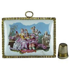18th Century Georgian Battersea Enamel Plaque, Circa 1765 With Provenance The Honourable Mrs Nellie Ionides
