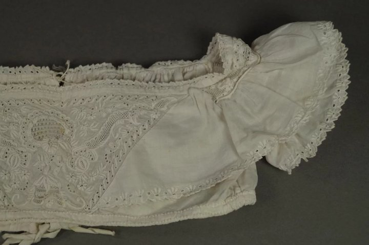 Georgian 19th Century Child's Bodice Chemise Vest Stunning hand Embroidered  Ayrshire Whitework Embroidery Circa 1830